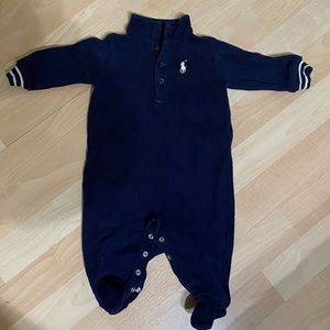 Polo Ralph Lauren Boys Navy Coverall 3 months